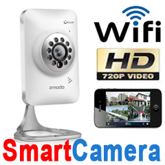 Top Professional Zmodo 720P HD WiFi Wireless Home Video Security Camera  Two-Way Audio Night Vision
